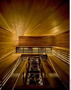 La sauna in pioppo giallo trattato termicamente