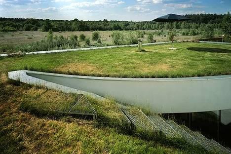 El jardín sobre el tejado con vistas abiertas sobre el campo
