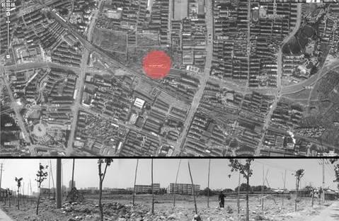 Vista dal satellite e stato del sito in costruzione