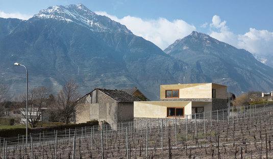 Transformación de un antiguo henil en Suiza