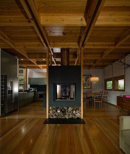 Una casa de madera en la reserva de Gerês