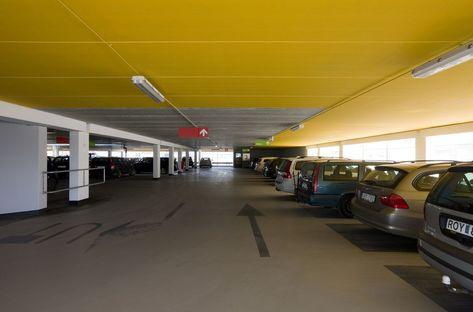 Erika car park en el área portuaria de Malmö