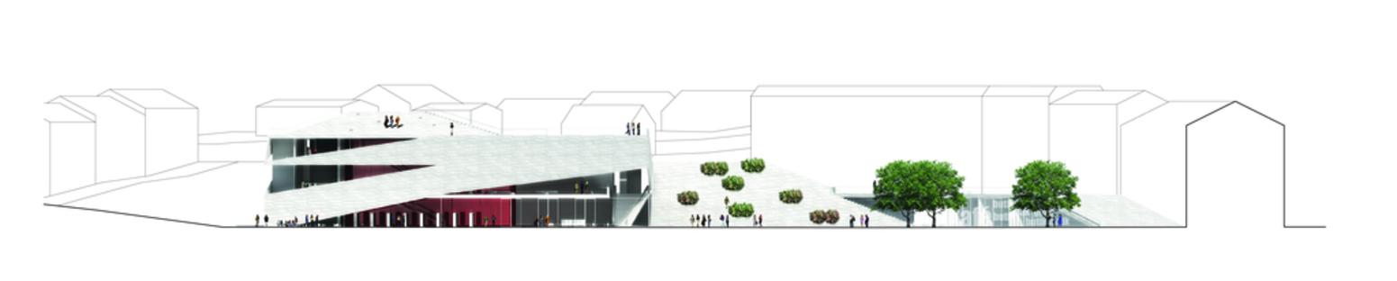 3XN architects: Cultural Center Plassen en Noruega