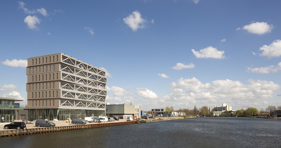 PATCH22, a wooden tower in Amsterdam