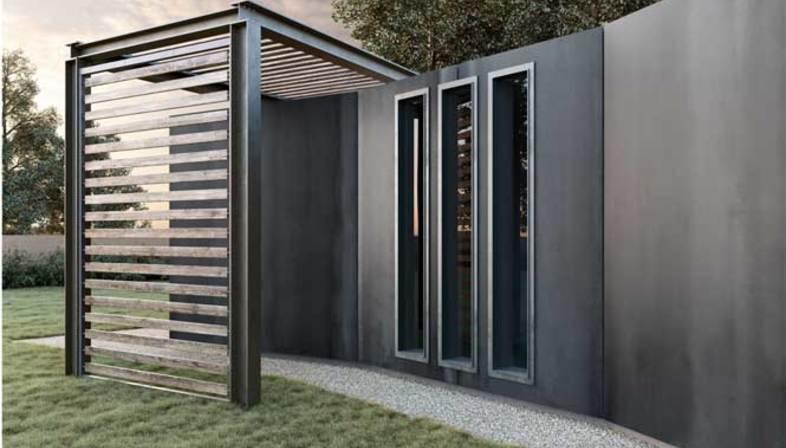 Baldosas de gran formato de efecto metalizado, suelos de interior