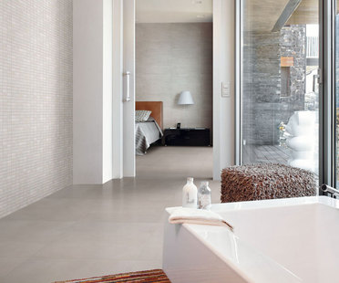 El baño ideal con las superficies de gres porcelánico