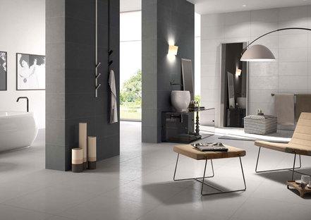 Espacio y luz en la sala de estar: las superficies Porcelaingres