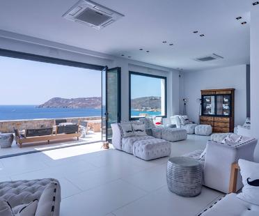 Hoteles y centros turísticos en Mykonos con baldosas Ultra Ariostea