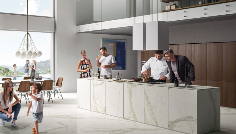 Sapienstone las mejores superficies de gres porcelanico for Mejor material para encimeras de cocina