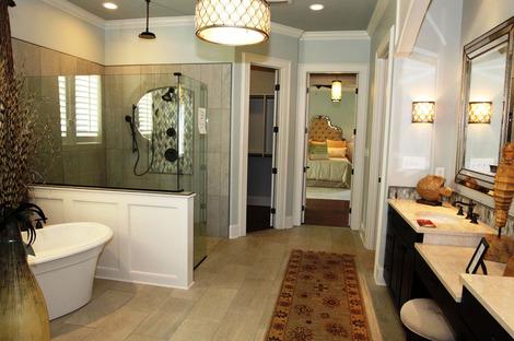 El baño contemporáneo con superficies de gres porcelánico Stonepeak
