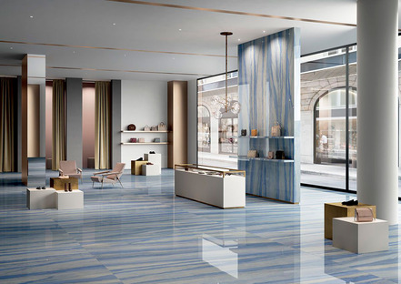 Efecto mármol, piedra, resina y cemento: las propuestas cerámicas Fiandre y Aqua Maximum