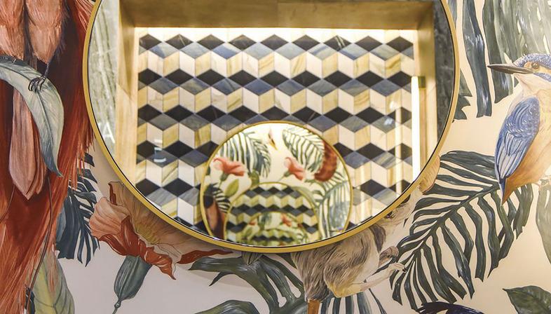 Decorar y personalizar los espacios: la tecnología DYS en losas cerámicas Fiandre
