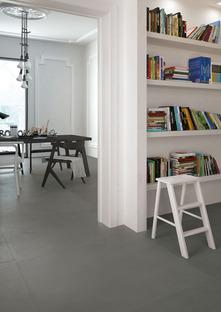 Grandes losas inspiradas en cementos, resinas y metales: Hi Lite de Iris Ceramica