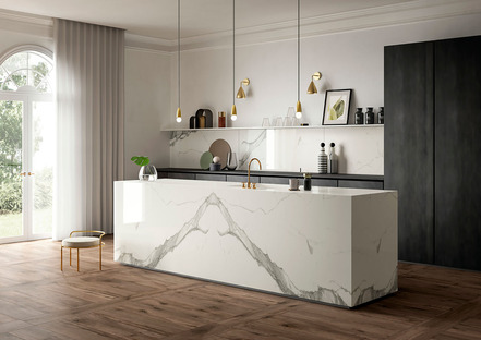 Resistentes, higiénicas e inalterables: encimeras SapienStone Calacatta, protagonistas de la cocina