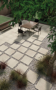Cómo organizar de la mejor manera posible los espacios exteriores: las superficies de gres porcelánico