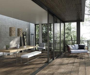 Naturales y elegantes: las colecciones para exteriores Porcelaingres en piedra, cemento y madera