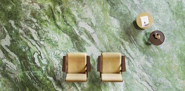 El verde, color de tendencia para revestimientos y muebles: la fascinación de los mármoles Fiandre
