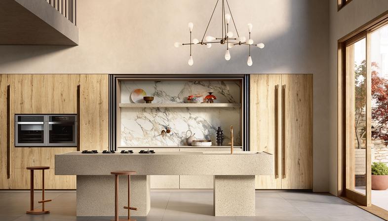Il Veneziano: nuevas superficies para la cocina Sapienstone