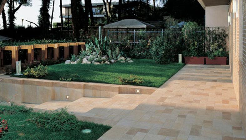 Pavimentos para exteriores de gres efecto piedra