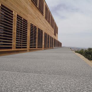 Suelos de piedra en un edificio religioso en la Maremma