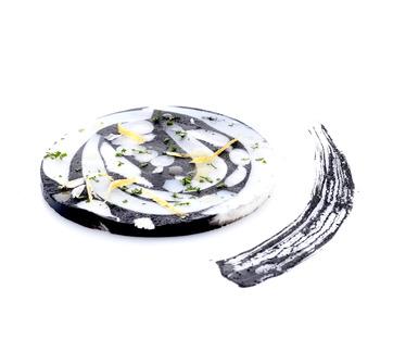 Gli ingredienti per il Mosaico di seppia nel suo inchiostro