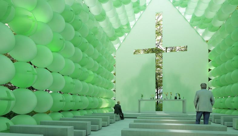 Green Chapel de plástico