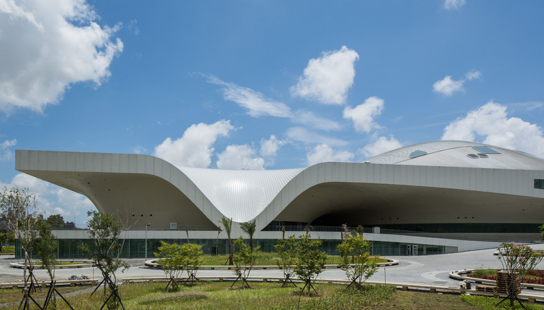 Una ciudad cubierta de metal, Centro de arte en Kaohsiung Taiwán