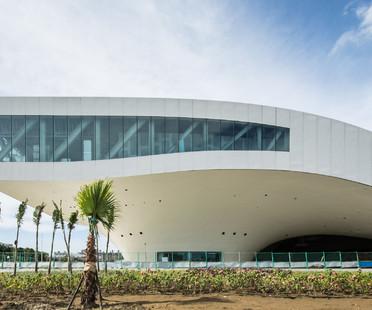 Detalles de construcción del Centro de arte de Kaohsiung de los Mecanoo