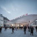 Marquesinas de hormigón proyectado en la Nørreport Station de Copenhague – COBE architects.