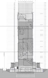 Revestimiento de aluminio para la fachada de la Torre de Fuksas en Turín