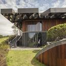 Estructura de acero para el techo del Taekwang Country Club Café por Mecanoo