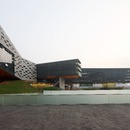 La fachada del rascacielos horizontal de Steven Holl en Shenzhen, China
