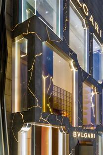 La tienda de Bulgari en Kuala Lumpur, GRC y LED, por MVRDV