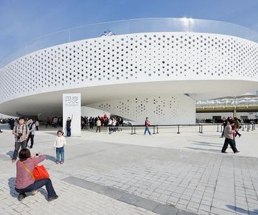 La doble espiral cerrada del pabellón danés para la EXPO 2010 de Bjarke Ingels
