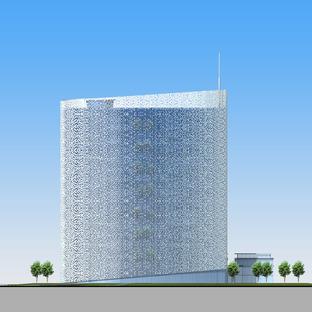 Torre Air China con revestimiento de aluminio, una obra de AREP e IPPR