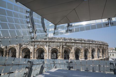 El Musée de la Romanité de Elizabeth De Portzamparc en Nimes y su fachada de cristal serigrafiado