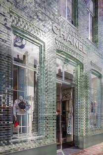 Crystal House de MVRDV: una fachada de ladrillos de vidrio.