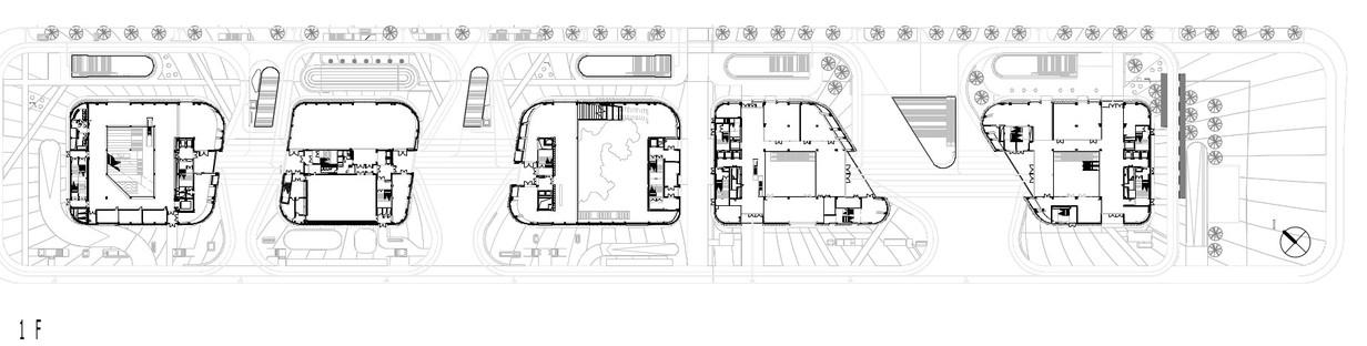 Mecanoo en Longgang: fachadas en voladizo de cemento y aluminio