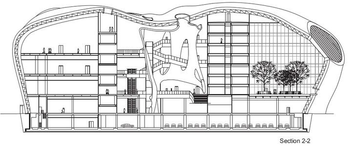 Estructura con doble caparazón de acero para el Ordos Museum de MAD