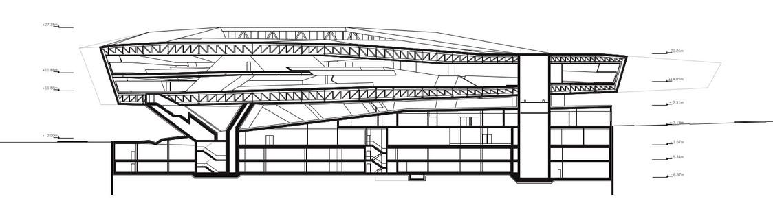 Museo Porsche en Stuttgart, de acero y cemento, por Delugan Meissl