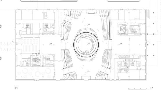 Esfera de policarbonato para la Biblioteca Binhai, por MVRDV