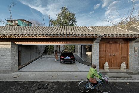 Casa reestructurada de madera, ladrillos y bambú laminado en Beijing