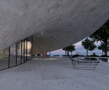Mobius House, de ladrillos de cáñamo y cemento armado, por Gibbons Design