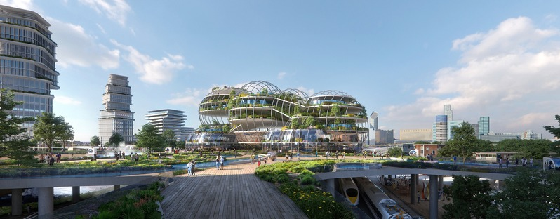 Catedral geotérmica para la Socio-Technical City del futuro, por UNStudio