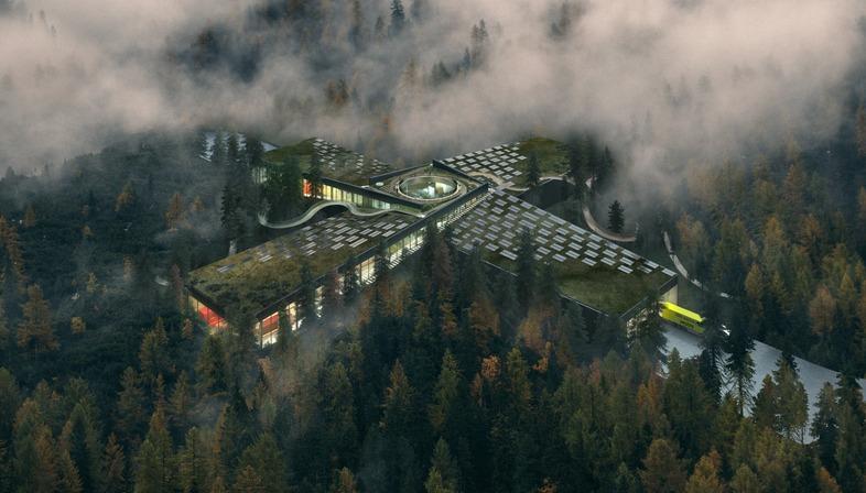 The Plus, fábrica verde de mobiliario urbano Vestre, por BIG