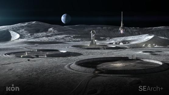 Edificios que se imprimen en 3d para vivir en la Luna, por BIG, ICON y SEArch+