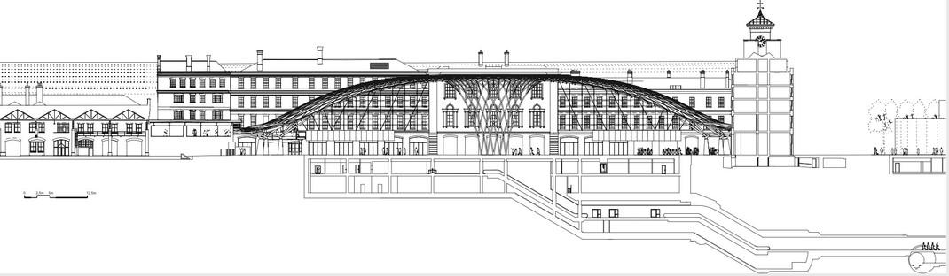 La King's Cross Station realizada por McAslan, de acero y paneles de vidrio