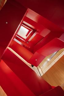 Estructura de acero para la biblioteca de Tainan, por Mecanoo